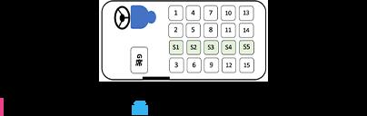 小型・マイクロ 乗車可能人数 最大20名 座席表